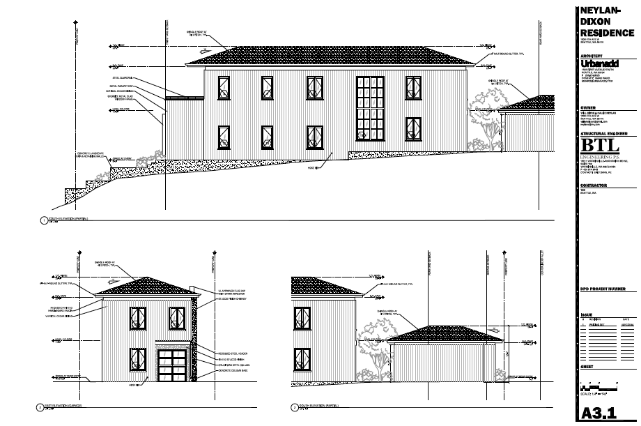 Southern elevation for 1934. Via Mark Ward, our architect at UrbanAdd, October 2014.