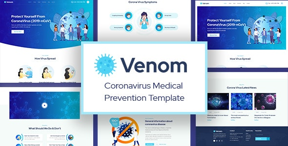 Venom - Coronavirus Medical Prevention PSD Template