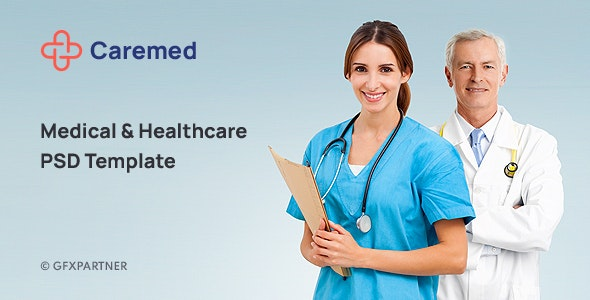 Caremed – Medical & Healthcare PSD Template