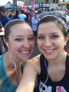 Jenna and Rose just minutes before the race.