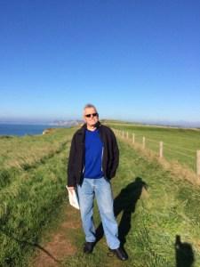 The Man enjoying the Coastal Path