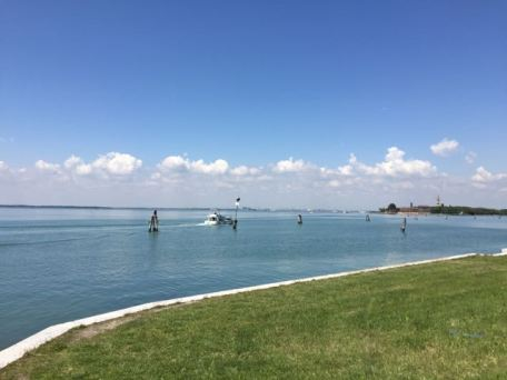 View from The Lido towards Venice