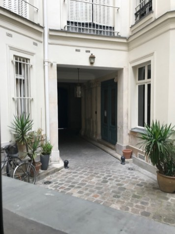 our entrance courtyard