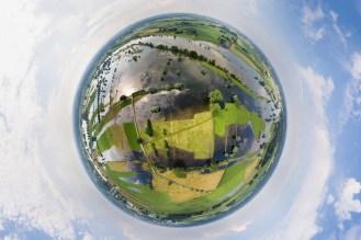 Spettacolare, il collage di 25 foto dall'alto che ritraggono il fiume IJssel nei Paesi Bassi...