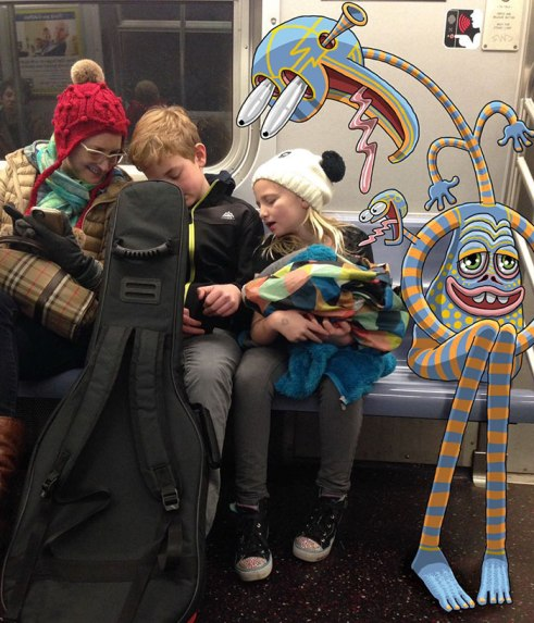artist-adds-monsters-next-to-strangers-on-the-subway-26