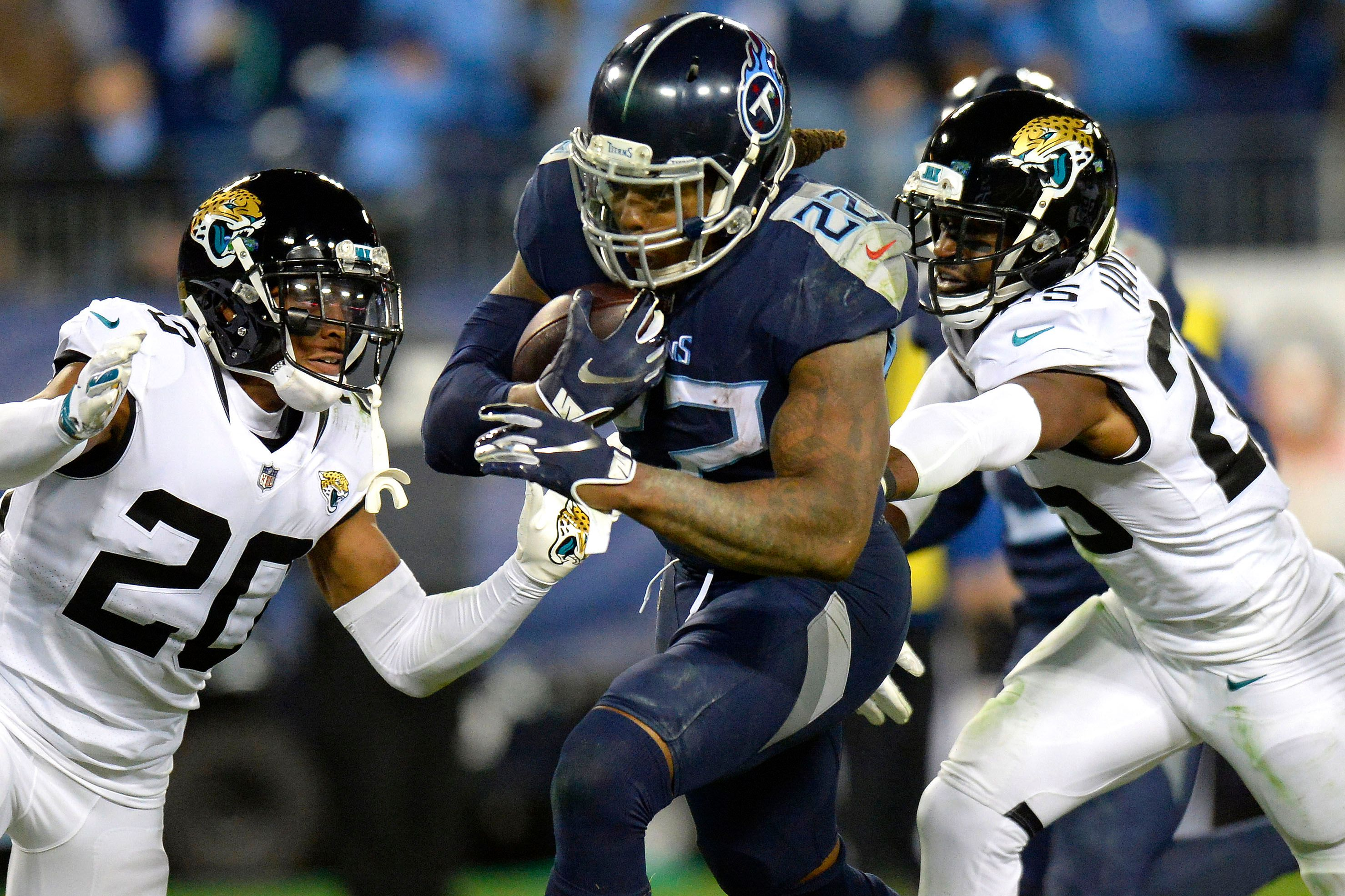 Titans Derrick Henry Runs Over The Jacksonville Jaguars
