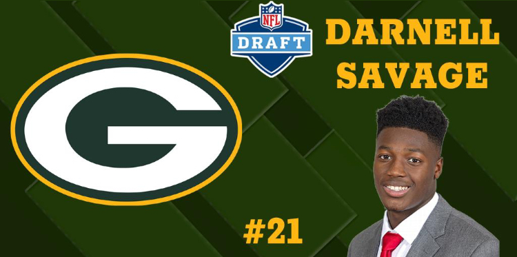Green Bay Packers Select Darnell Savage Jr. 21st Overall