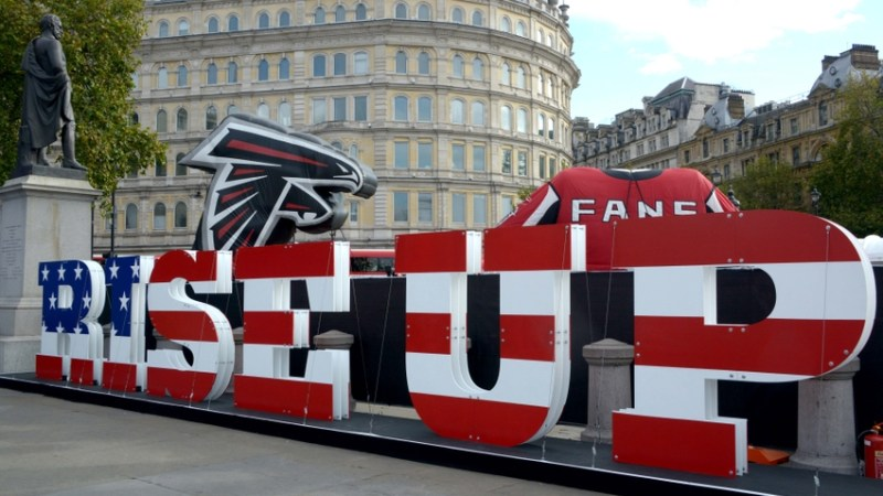 Atlanta Falcons in Trafalgar Square 2014