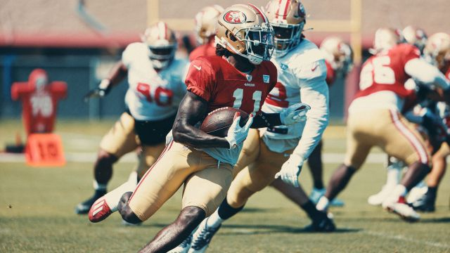 Brandon Aiyuk is looking to repeat the success of the 49ers' 2019 rookie receiver Deebo Samuel.