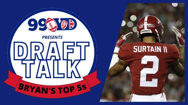 DRAFT TALK: Bryan's top 5s!