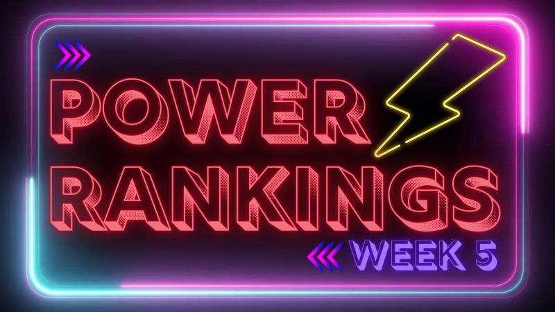 NFL Power Rankings – Week 5. Cardinals Remain Unbeaten.