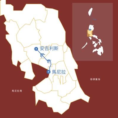 菲律賓旅行地圖2