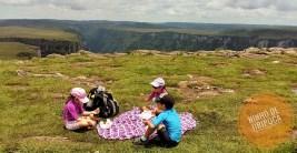 Picnic no Canion Fortaleza com crianças