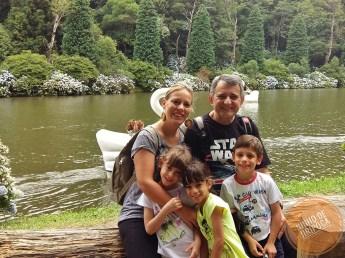 Lago Negro em Gramado com crianças