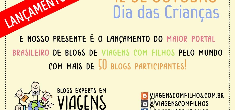 Banner de lançamento do portal Viagens com Filhos