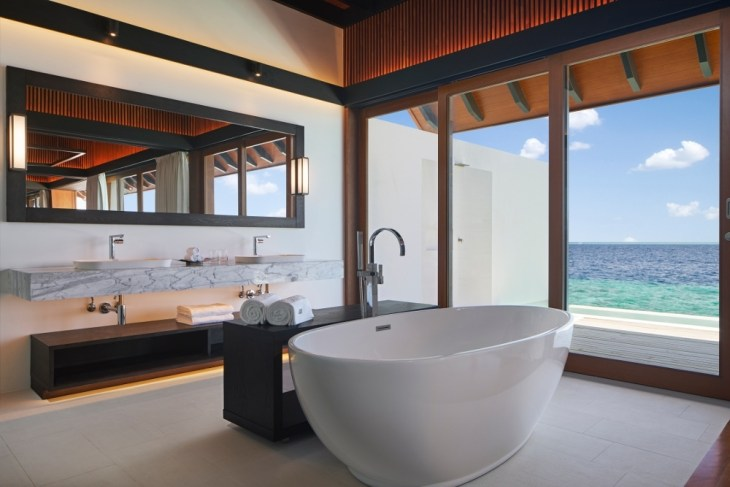 The Westin Maldives Overwater Suite Pool Bathroom