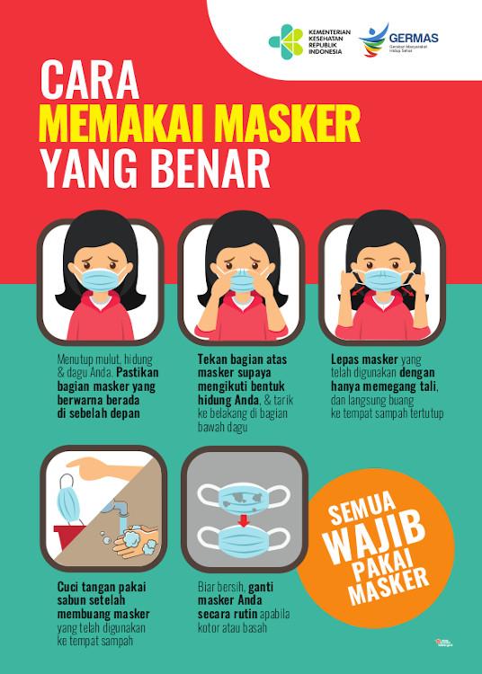 cara memakai masker kain