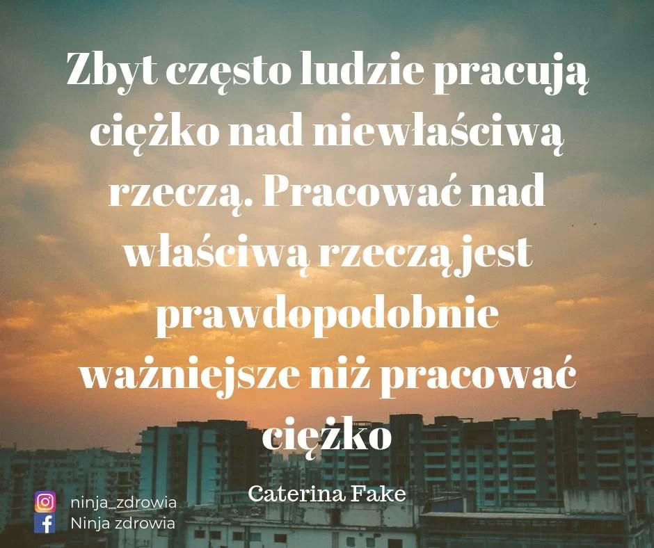 Caterina Fake - motywacja do ćwiczeń