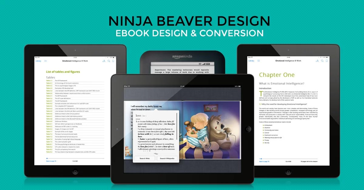 eBook Conversion and formatting services by Ninja Beaver