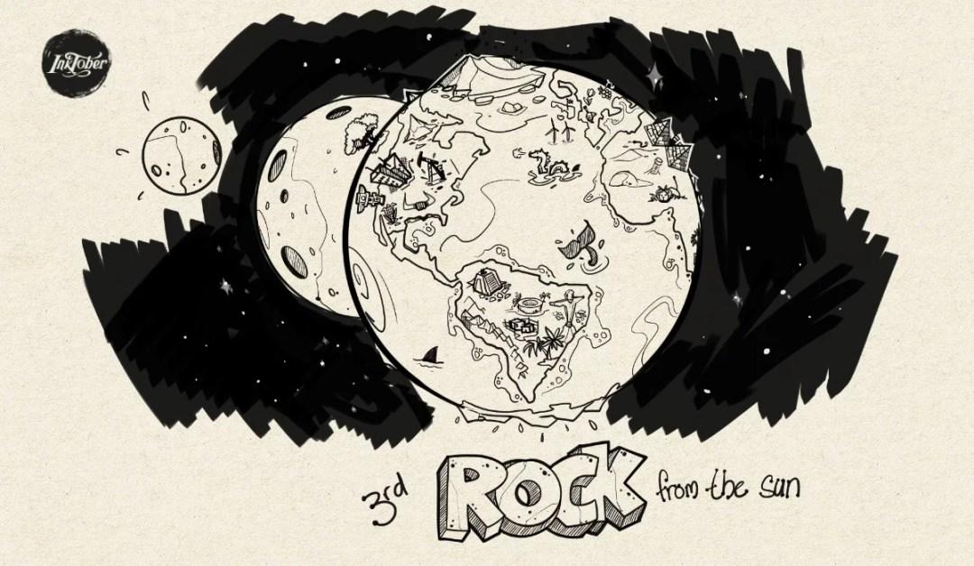Inktober - Rock