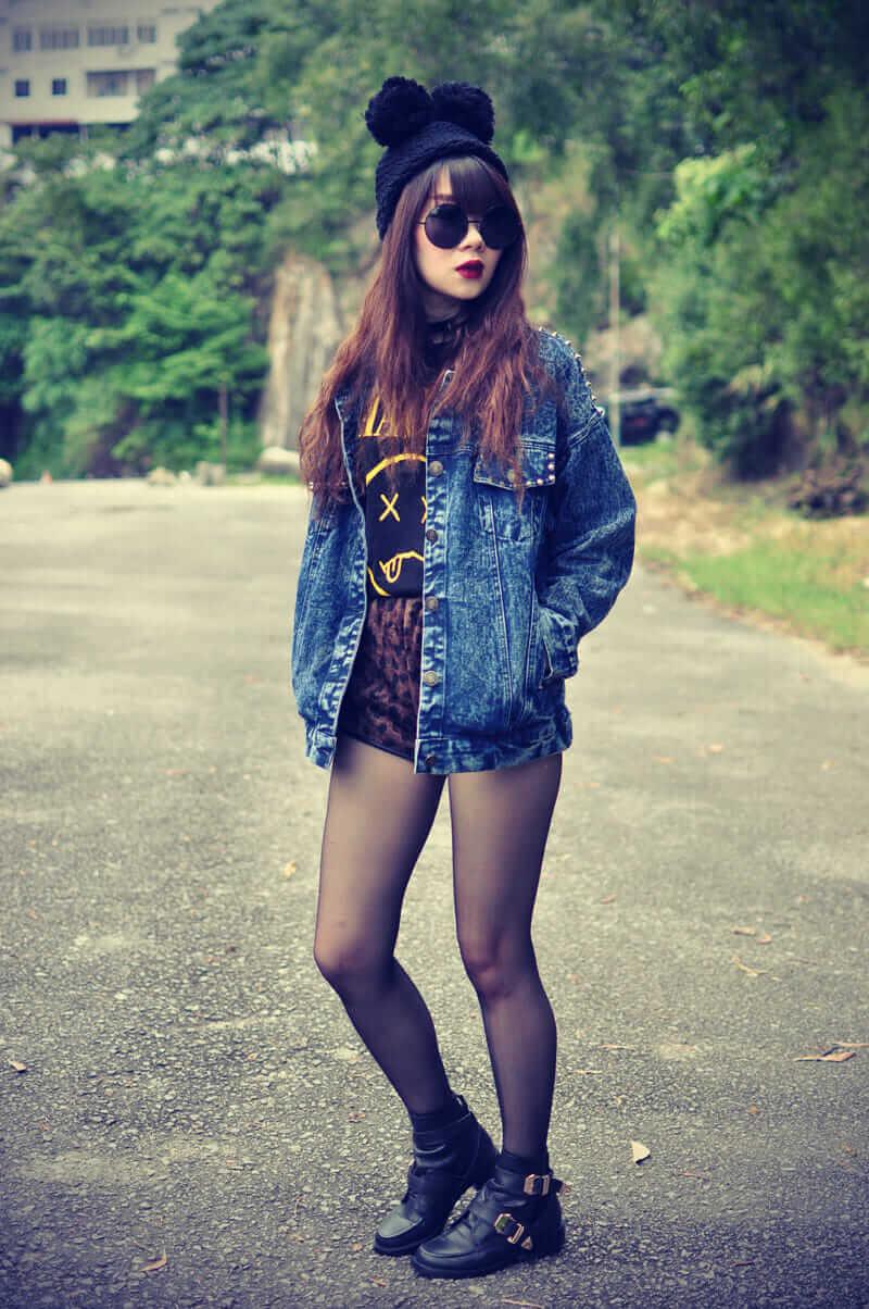 28 Grunge Ways To Wear Denim Jackets Page 25 Of 28