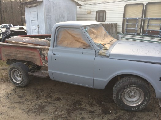 1972 chevrolet step side with primer