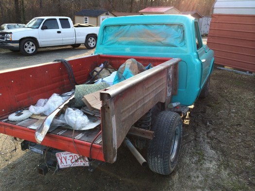 1972 chevrolet stepside truck restoration teal paint