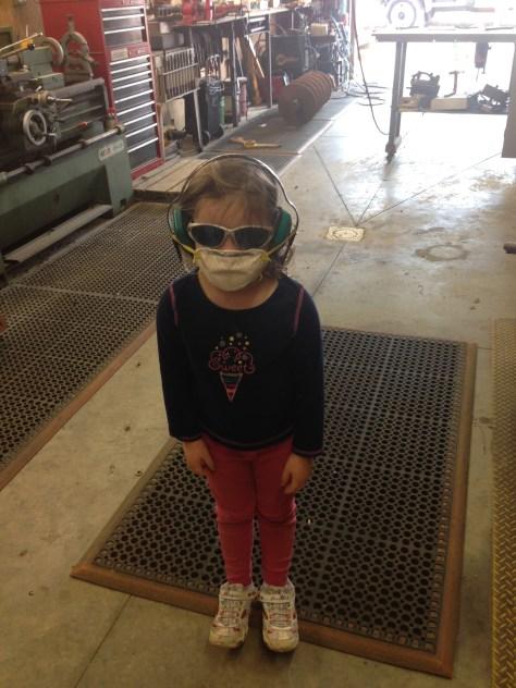 Bok Bok in her PPE