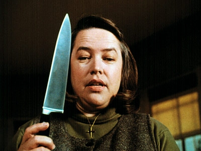 Kathy Bates with knife