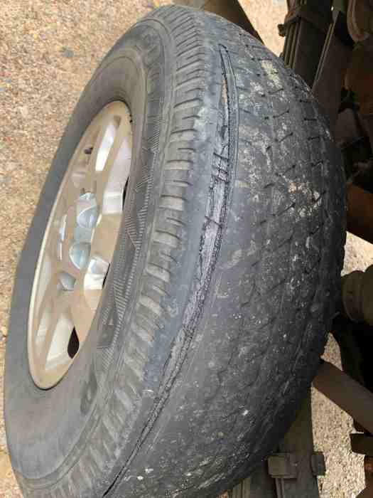 Truck tire with blown tread