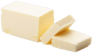 A picture of a block of grass-fed butter, which is naturally yellow in color because it contains more carotene.