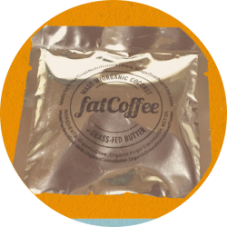 A packet of fatCoffee mix