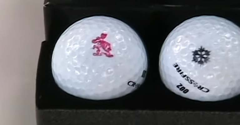 Personalized Numbers on Golf Balls