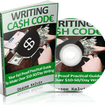 the writing cash code