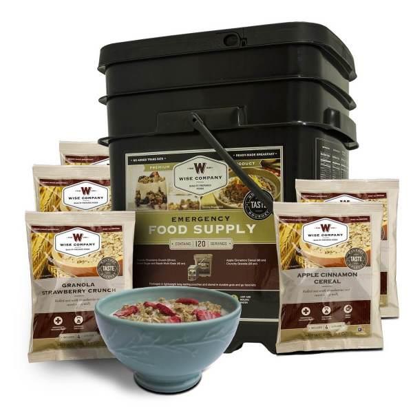 120 Serving Breakfast Only Grab n Go Bucket - Emergency Food Storage - fsb120