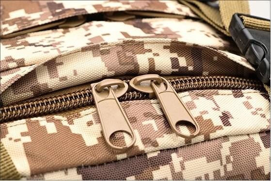 50L Mil-Spec MOLLE Backpack - MB003 - Zipper Detail