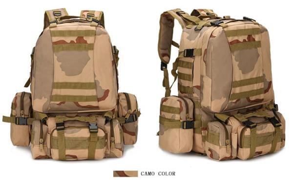 50L Mil-Spec MOLLE Backpack - MB003 - Camo