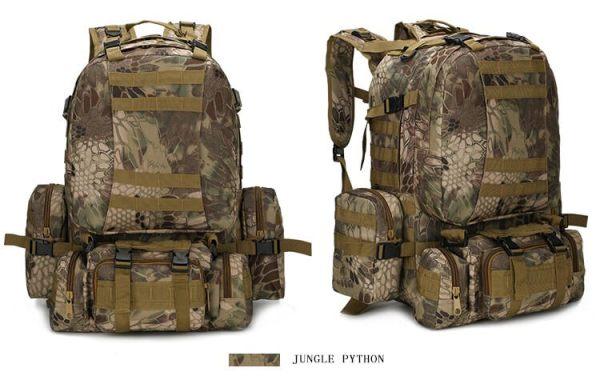 50L Mil-Spec MOLLE Backpack - MB003 - Jungle Python