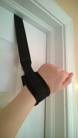 My hand in door jam cuff