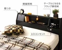 隠れ家のようなアジト  宮付き収納ベッド