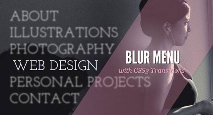 BlurMenuwithCss3-jquery-plugin