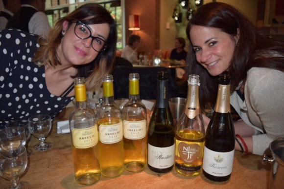 Lisa Anselmi (left) and Silvia Franco. Photo from the Drunken Cyclist wine blog.