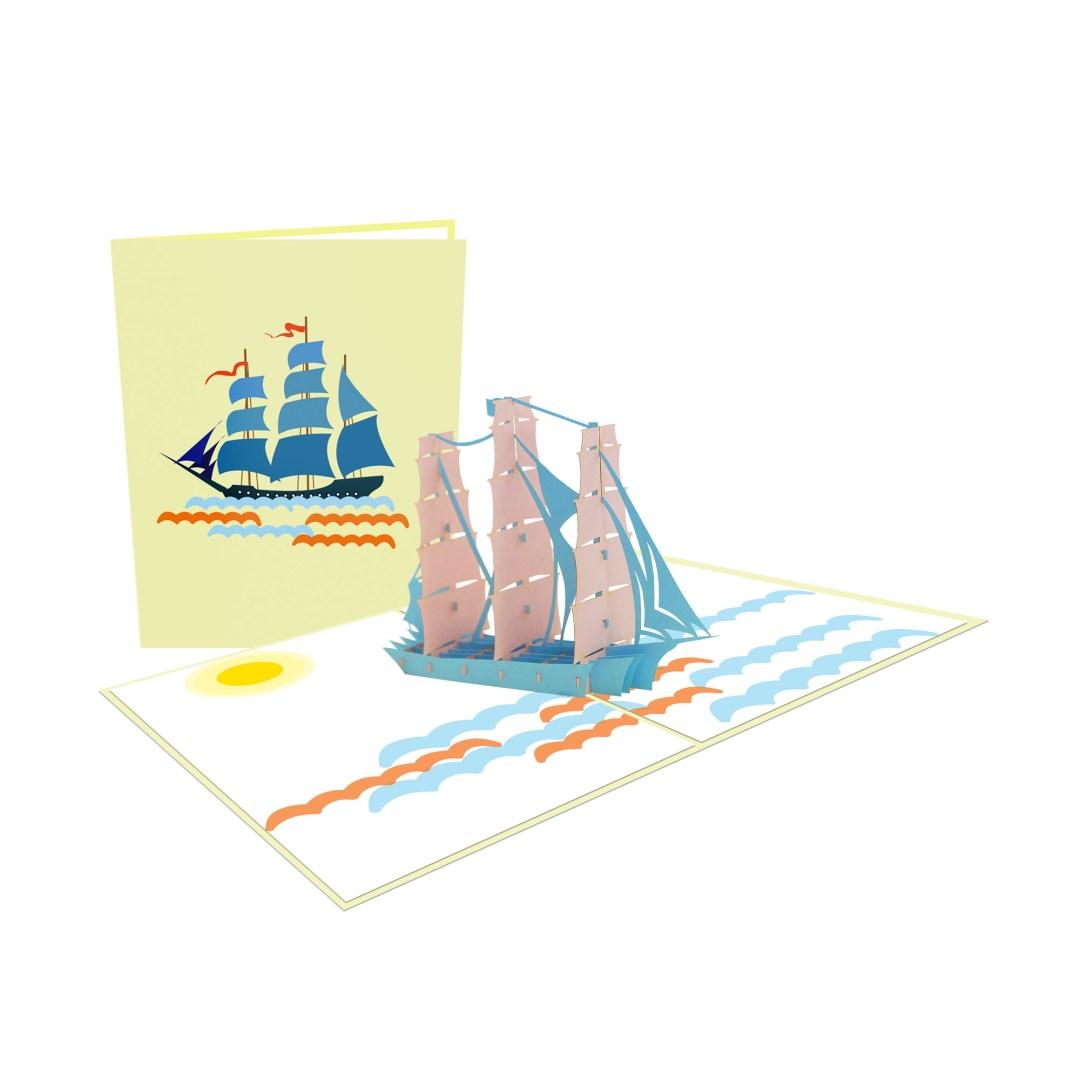 Boat 3D Card - Birthday Card