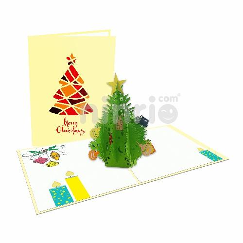 Pop up Christmas Card - Christmas tree