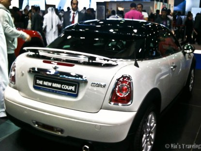 Picture a bit blur, but you get the shape of the new Mini Cooper Coupe model