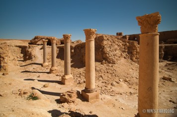 Series of Corinthian Columns in Palmyra