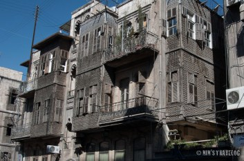 Facade of Aleppo then: grey, dusty and unmaintained, but the ornament of the facade are still intact. I don't know how it looks like now....
