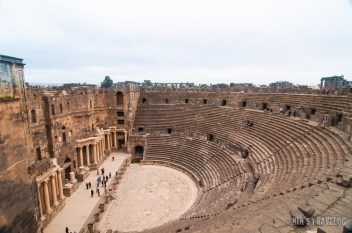 Busra was one of so many Roman Cities, however, now it's only a small village near Syrian Border with Jordan. This Amphitheater was the only ruin that was still intact, 2 years ago. Now, who knows....