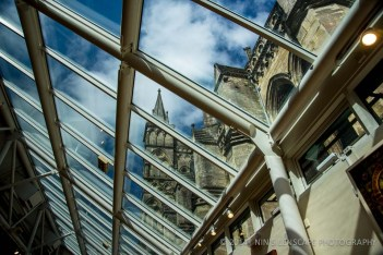 Salisbury Cathedral as seen from it's new annex building