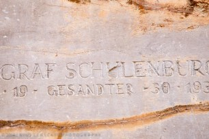 One by one the modern archeologist marking their presence here - vandalism in the name of science?